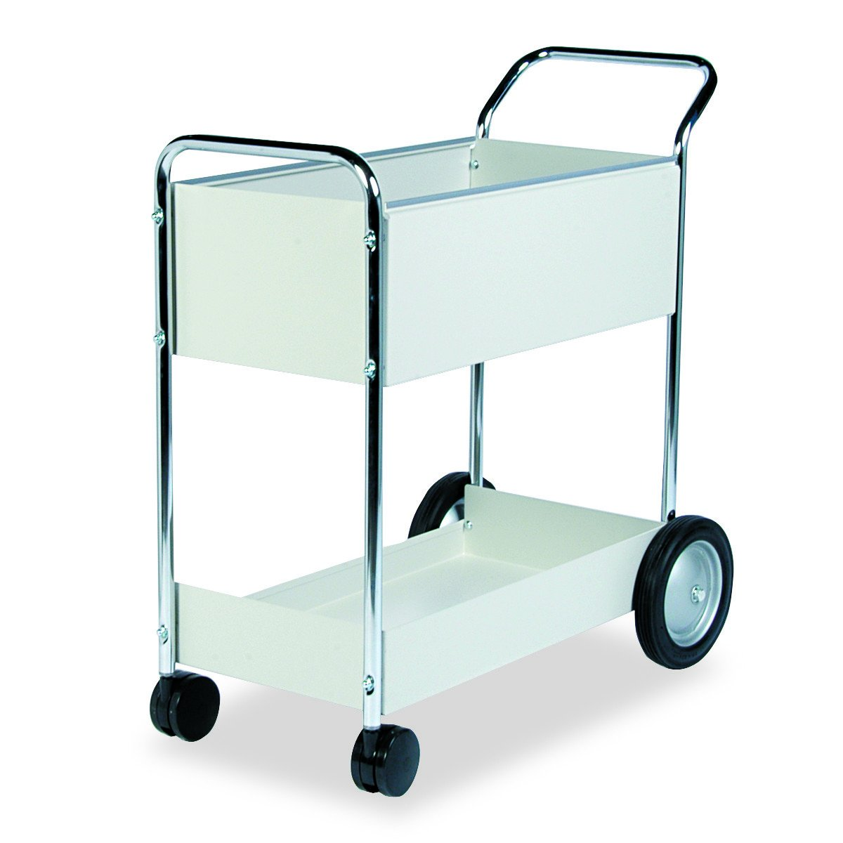 Fellowes 40922 Steel Mail Cart, 150-Folder Capacity, 20w x 40-1/2d x 39h, Dove Gray by Fellowes