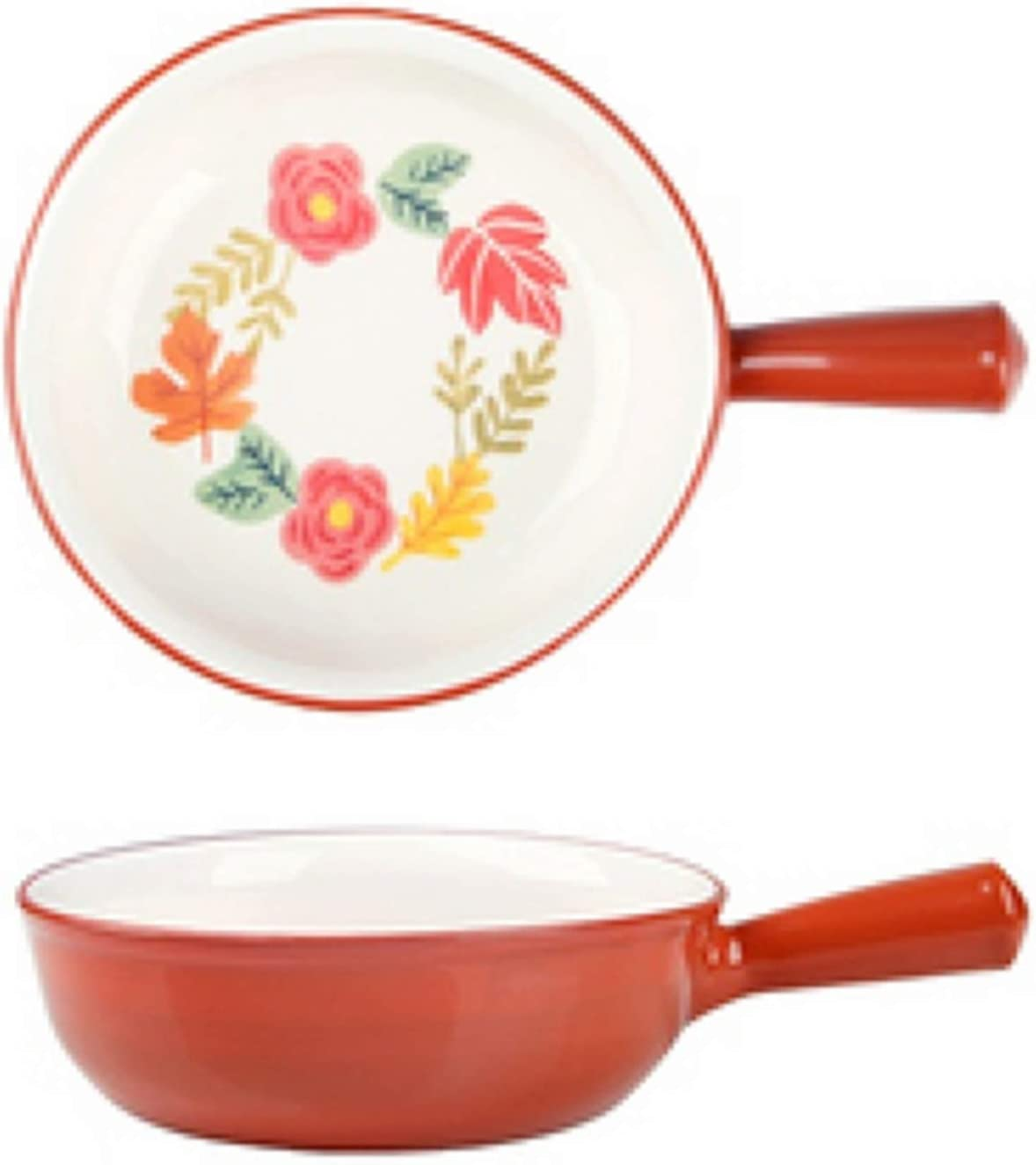 French Onion Soup Bowls With Handles, 30 Ounce Baking Serving for Soup, chili, beef stew, Set of 2 (Red)