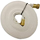 Key Fire 017-FF058-450 Polyester/Polyurethane/Brass/Plastic/Rubber 1061 Pencil Line Lay Flat Garden Hose, GHT Connection, 300 Psi Maximum Pressure, 50' Length, 5/8""