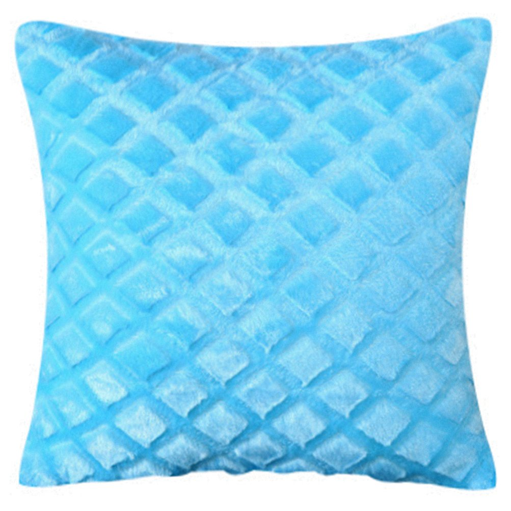 Solid Color Plush Sky Blue Geometrical Stripe Polyester Geometrical Decorative Stuffed Sofa Pillow Livebycare Seat Back Cushion Zipper For Playroom Valentines Day Boys