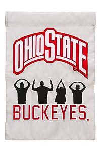 Team Sports America Ohio State Garden Flag - 13 x 18 Inches