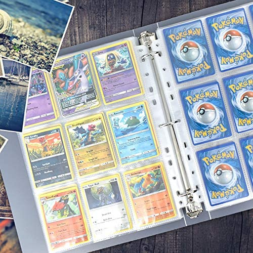 Pokemon Card Holder Binder, Trading Card Sleeves, 9-Pocket 540 Cards Collector Album, Trading Card Holder Album for Pokemon Cards & Photocards, Double Sided Pages White