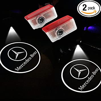 2x LED Car Door Laser Projector light Welcome Ghost Shadow Light for Benz AMG