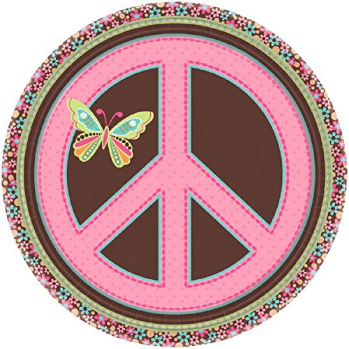 Amscan Dessert Plates | Hippie Chick Collection | Party Accessory
