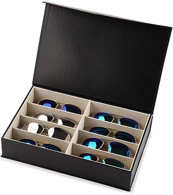 WATCHHE Organizador Caja De Almacenamiento De Relojes Relojero Cuero Estuche De Gafas Caja De Exhibición Joyas Joyas Pulseras Collares Regalo Impermeable Casas 1103: Amazon.es: Relojes