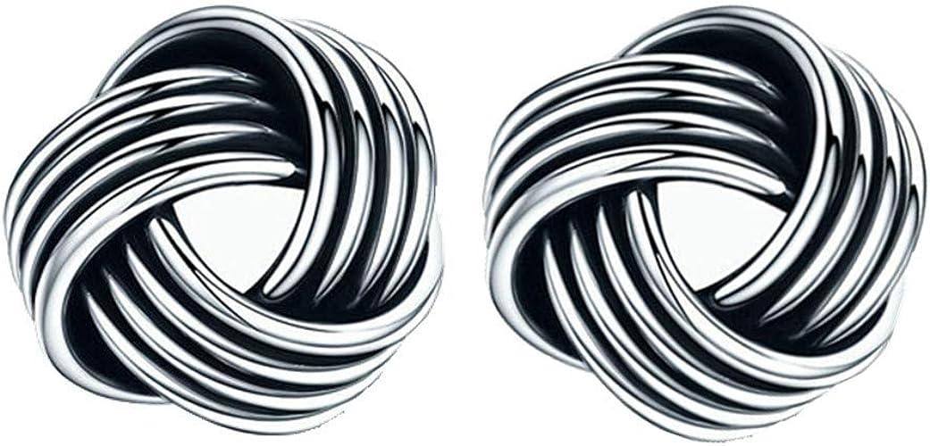 7mm Wide Plain Silver Small Celtic Style Stud Earrings 925 Sterling Silver