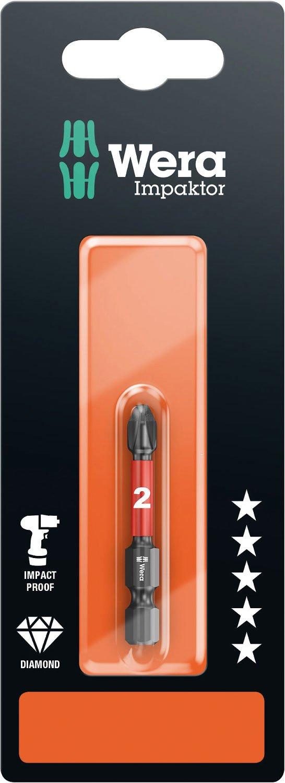 Pack of 5 Wera 851//4 Diamond Coated Impaktor Screwdriver Bits for PH 3 Phillips Screws