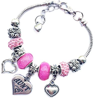 gift ideas Pink and grey someone special bracelet beaded bracelet special gift someone special pink and grey charm bracelet