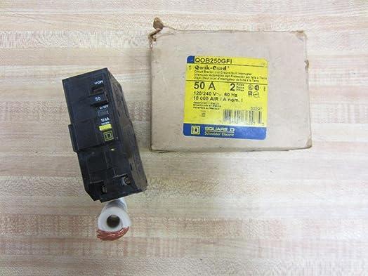 SCHNEIDER ELECTRIC Miniature 120 240-Volt 50-Amp QOB250GFI Molded Case Circuit Breaker 600V 30A