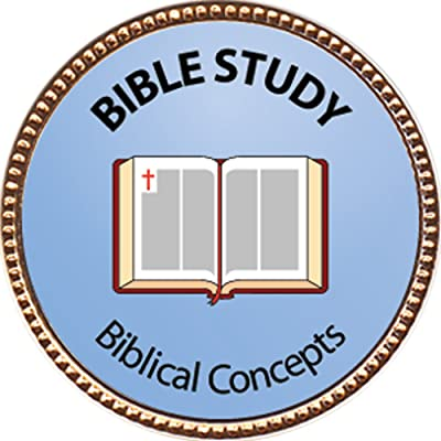 "Bible Study - Biblical Concepts Award, 1 inch dia Gold Pin ""Spiritual Life Skills Collection"" by Keepsake Awards: Toys & Games"