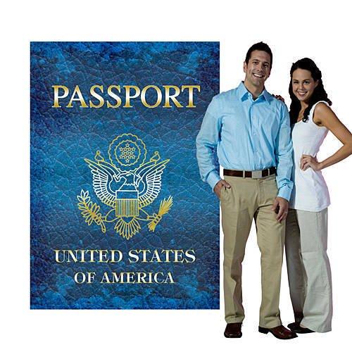 Shindigz Around The World Passport Standee