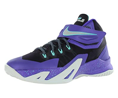 86ef756f501b Nike Zoom Lebron Soliders VIII (GS) Girls Basketball Shoes 653645-500 Cave  Purple