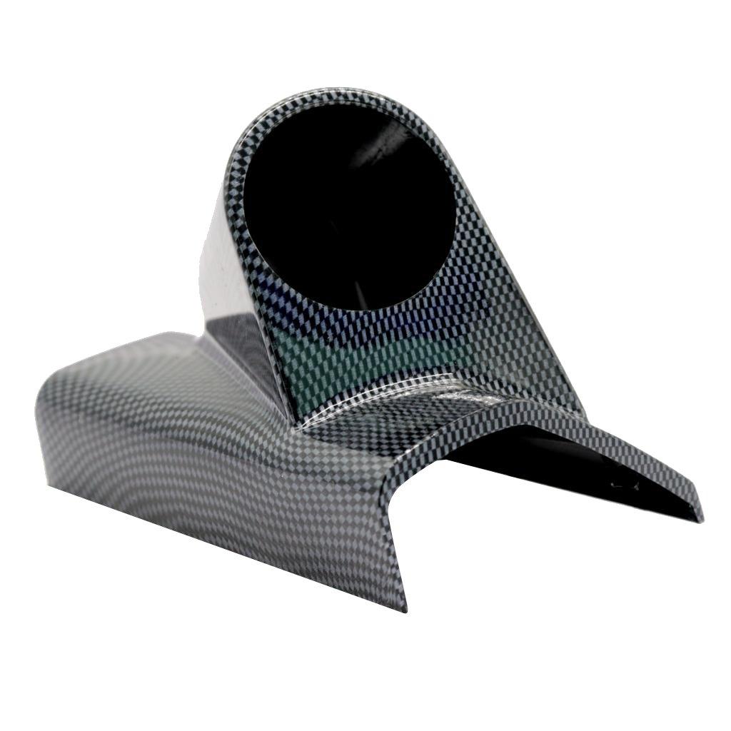 MagiDeal Soporte de Montaje de Estilo Pilar para Medidor Instrumento de Coche 52mm de Agujero - Color Negro 1 Agujero