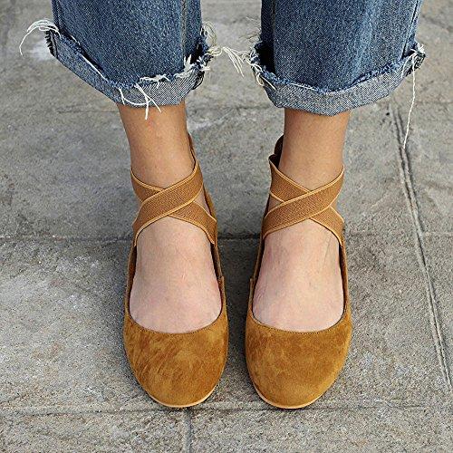Plat Sunnywill Tongs Simples De D'été Marron Pour Chaussures Talon Plage Femmes Chaussures À OwwIHr