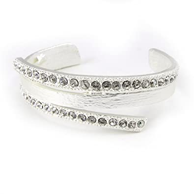 French Touch Bracelet Illuminations Silver Plated White Amazon