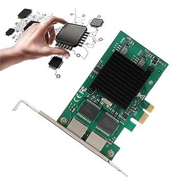 PCI-E X1 Tarjeta de Red Ethernet de 2 Puertos 1000 Mbps ...