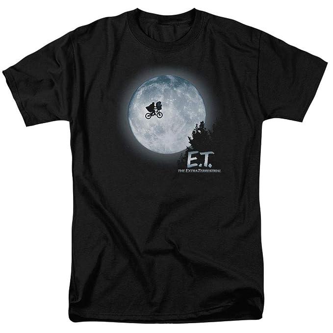 ecd0aa8d Amazon.com: E.T. Flying Bicycle Across The Moon T Shirt: Clothing