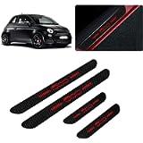 for Fiat 500 500X 500C Abarth 500L Bravo Linea Grande Punto 4D Carbon Fiber Door Sill Guard Protector Kick Plate Trim…