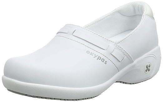 Bianco 36 EU fux Oxypas Scarpe di sicurezza da donna