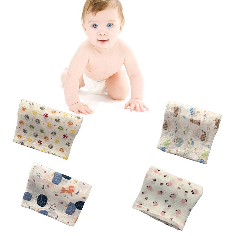 120x120cm Manta de muselina para beb/é manta para beb/é Algod/ón 100/% Reci/én nacido Toalla de ba/ño para beb/é Mantas Swaddle Multi Dise/ños Funciones Multicolor