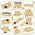 Wedding Photo Booth Props - Jumbo Ivory Design, Double-Sided by Big Bad Bash
