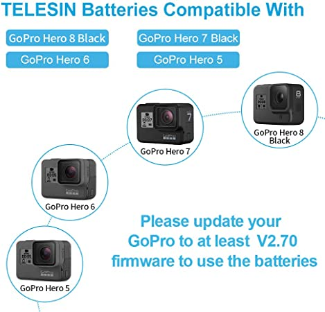 Batería recargable genuina GoPro para Hero 5 Negro Hero 6 Hero 7 Hero 8 Negro
