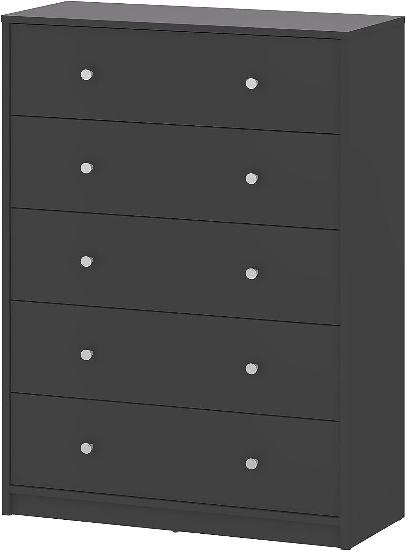 Grey Tvilum 70329cncn Portland 5 Drawer Chest