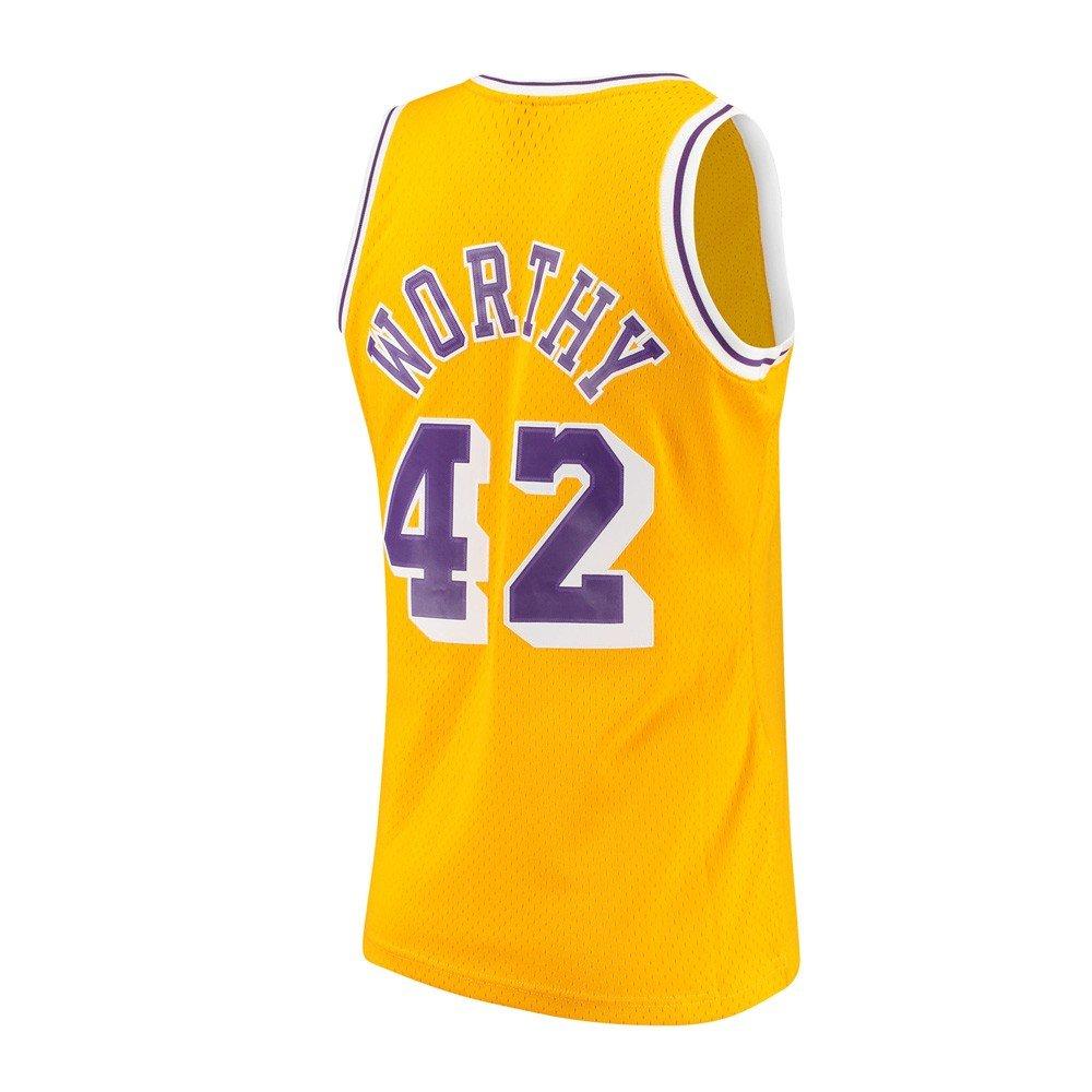 a4e989745 Amazon.com   Mitchell   Ness James Worthy Los Angeles Lakers NBA Gold  1984-85 Hardwood Classics Swingman Jersey Men   Sports   Outdoors