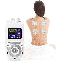 Moonssy Electroestimulador Muscular, Masajeador y estimulador de pulsos TENS/EMS, Reduce Dolor de Espalda, Cuello, Codo,…