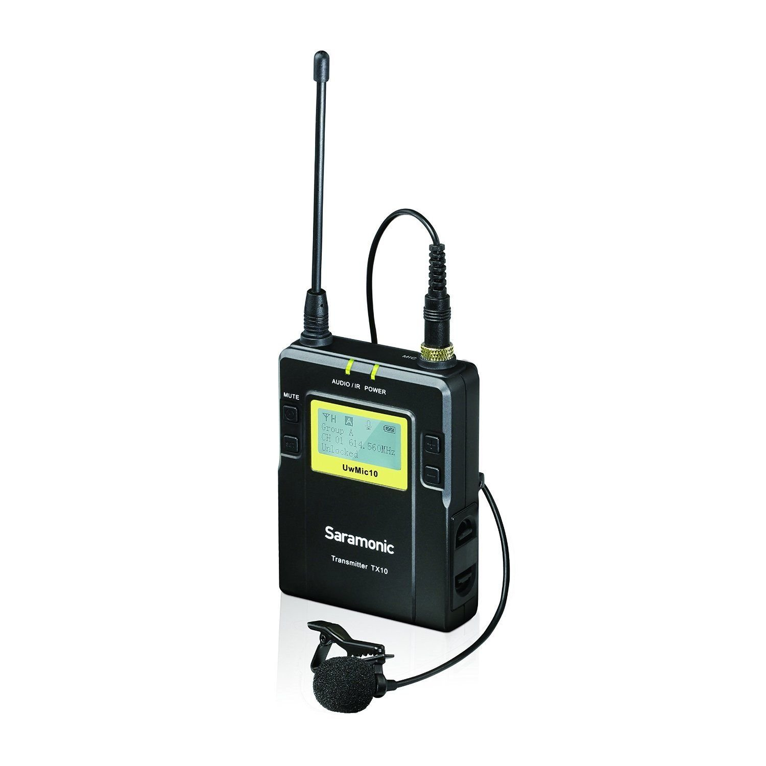 Saramonic UWMIC10 96-Channel Digital UHF Wireless Lavalier Microphone System with 2 Bodypack Transmitters, Portable Receiver, 2 Lav Mics, Shoe Mount, XLR/3.5mm Outputs + More by Saramonic