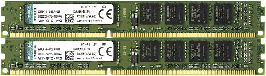 Kingston 4GB 1333MHz DDR3 Non-ECC CL9 DIMM SR x8-4 GB DDR3 SDRAM 1 x 4 GB