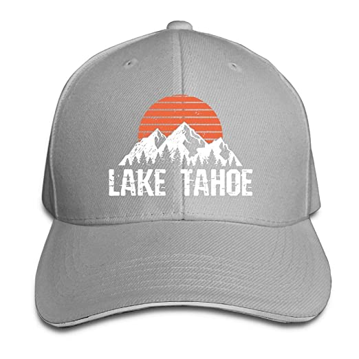 9a7d39c25ba Amazon.com  Lake Tahoe Distressed Mountain Sun Outdoor Trucker Hat Baseball  Cap Adjustable Sandwich Hat  Clothing