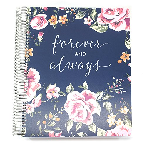 PurpleTrail Wedding Planner, 18 Month calendar, Wedding Organizer, Always and Forever