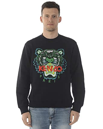 674dbf8ea792 Kenzo Mens Black Tiger-Embroidered Cotton Sweatshirt at Amazon Men's ...