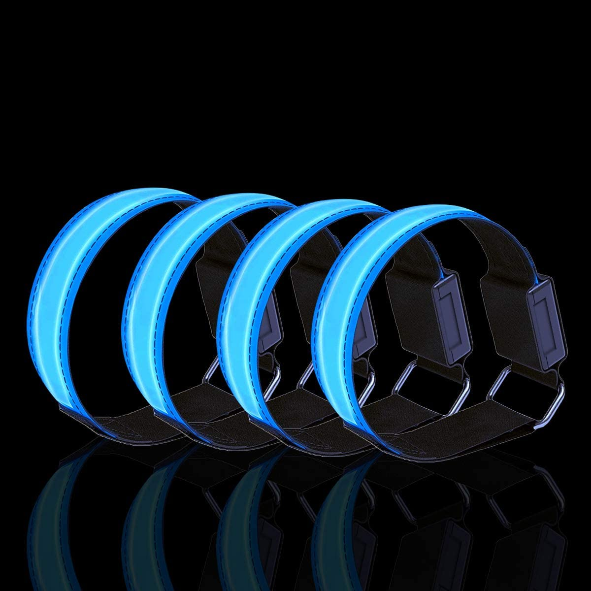 Bein Arm Laufen Licht f/ür Handgelenk Kn/öchel Lauflicht LED Reflektoren Joggen Sicherheitslicht Kinder Dusor LED Leuchtband Jogger Leuchtarmband Reflektorband Laufen Reflektor