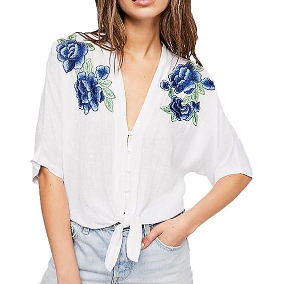 Blusas Y Camisas Mujer Blusas para Mujer Verano Elegantes AIMEE7 Blusa Superior De La Manga De