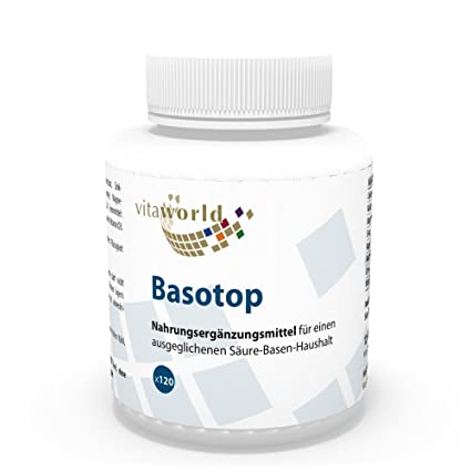Basotop Polvo Mineral Complejo Alcalinizante 120 Comprimidos Vita World Farmacia Alemania - Minerales