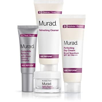 Murad Complete Skin Renewal Kit 4 Pack - Biotherm Homme Total Recharge Non-Stop Moisturizer 1.69 oz