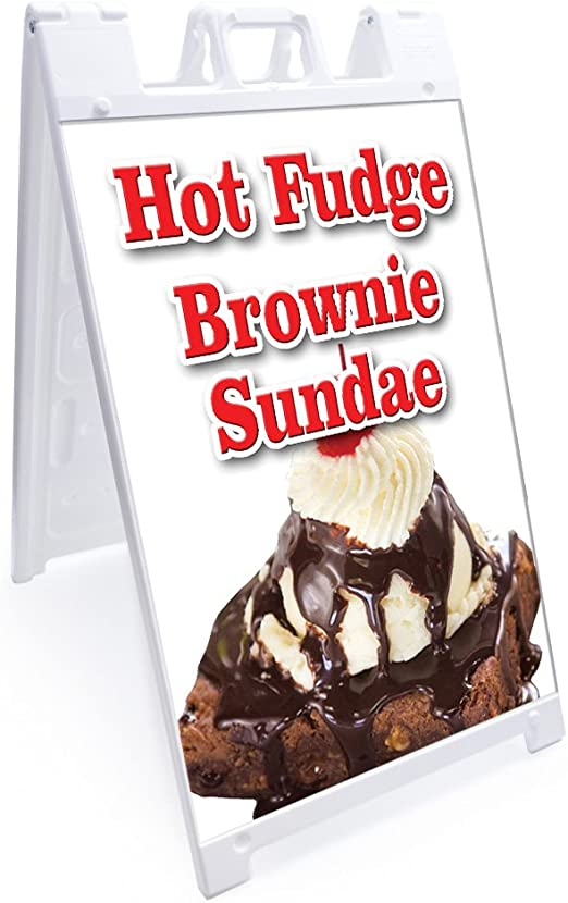 """A-frame Gelato Sign With Graphics On Each Side24/"""" X 36/""""Heavy Duty"""