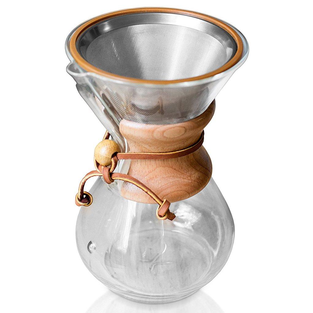 ambox vierta sobre cafetera filtro, reutilizable 18/8 (304 ...