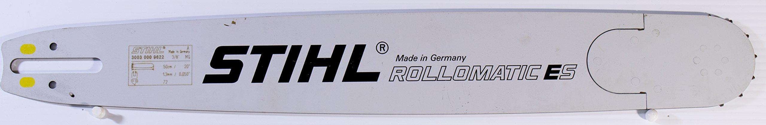 Genuine Stihl Rollomatic E Super (ES) Chainsaw Bar 3/8'' pitch 0.050'' guage for profesional Chainsaw (YELLOW - Agressive cut) (20'' Bar)