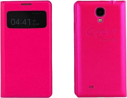 COOVY® Étui pour Samsung Galaxy S4 GT-i9500 GT-i9505 GT-i9506 FENÊTRE Ultra Fin View Cover Coque de Protection Housse et Film DE Protection pour ...