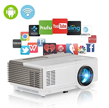 Mini proyector portátil LCD Android inalámbrico HD 1080P 720P LED ...