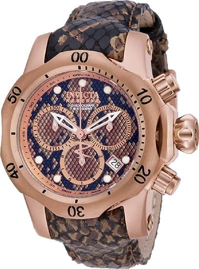 Invicta 14970 - Reserva 42 mm Venom fabricada en Suiza Cuarzo Cronógrafo correa de cuero reloj: Invicta: Amazon.es: Relojes