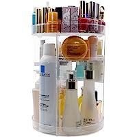 360 Degree Rotating Makeup Organizer,Indoor Ultima DIY Adjustable Large Capacity Spinning Cosmetic Storage Rack for…