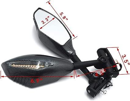 Rearview Side Mirror Turn Signals Light Indicator Fit Suzuki GSXR1000 2009-2015