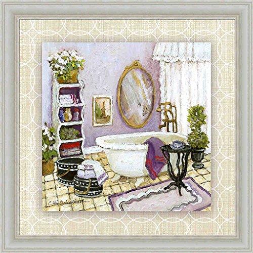 Lavender Scented Bath II Charlene Olson Lilac Purple Bathroom Framed Art Print Wall Decor Picture