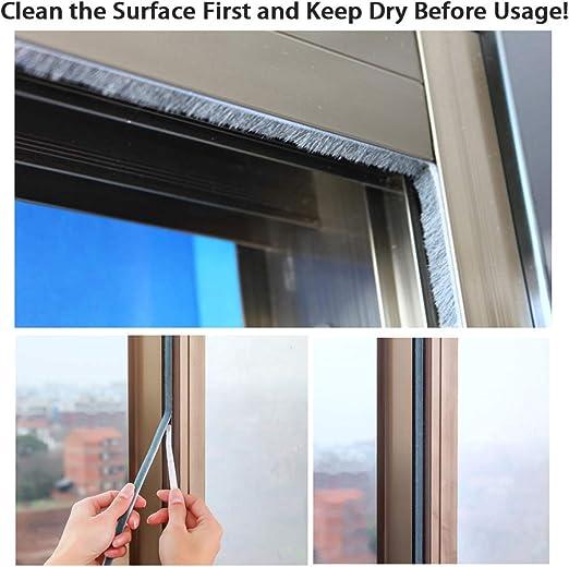 Wardrobe,Car 16 ft Long Dustproof Soundproof Sound Deadener Sumnacon 3 Pcs Weatherstrip for Window,Door Perfect to Windproof Shelter from The Wind 11//32x11//32 inch,Grey