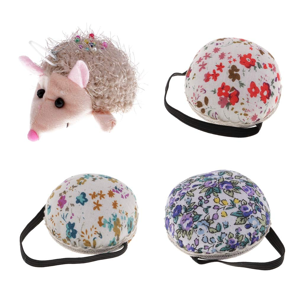 Computer accessories - 4Pcs Ball and Hedgehog Shaped DIY Craft Needle Pin Cushion Holder Sewing Kit Pincushions Sewing Pin Cushion Home Sewing Supplies by trang tri