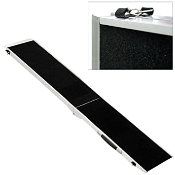 Portable Transport Travel Folding Car Pet Dog Ramp Aluminium 4 Sizes Available V2Aox length:213 cm